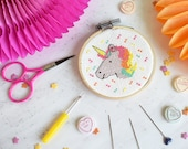 Magical Unicorn Mini Cross Stitch Craft Kit