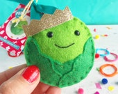 Sprout decoration, king sprout, sprout ornament, christmas ornament, christmas decoration, DIY decoration, craft kit, gifts for her, craft