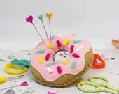 Sprinkle Doughnut Pin Cushion DIY Sewing Kit