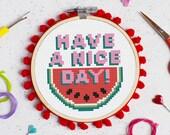 Have a Nice Day! Cross Stitch Craft Kit