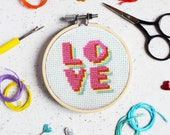 Summer of Love Mini Cross Stitch Craft Kit
