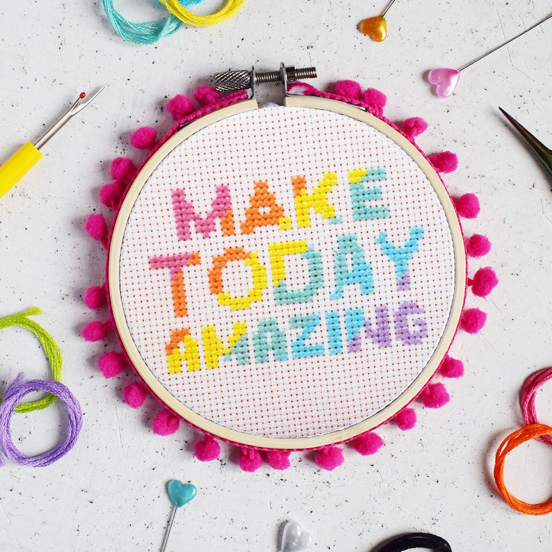 Make Today Amazing Cross Stitch Craft Kit image 0
