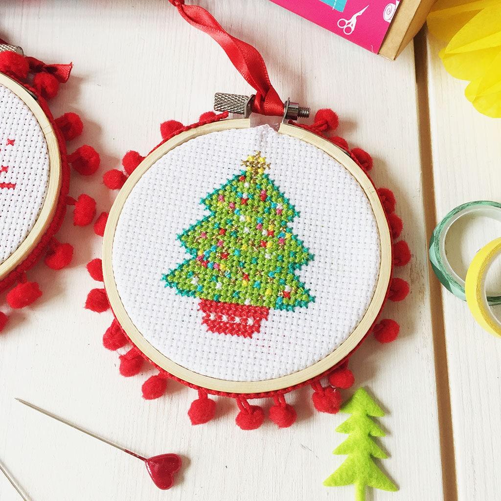 Weihnachtsbaum Kreuzstich Weihnachten Handwerk Kreuzstich | Etsy