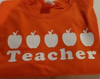 4cf7c19c VIPKid Custom 5 Apple Teacher Decal Iron On
