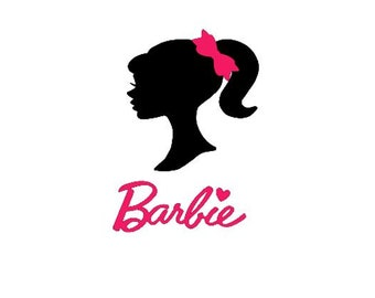 picture relating to Free Printable Barbie Silhouette identify Barbie silhouette Etsy