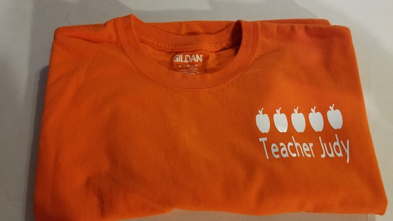 b4401eb5 VIPKid Custom 5 Apple Teacher Name Decal Iron On   Etsy