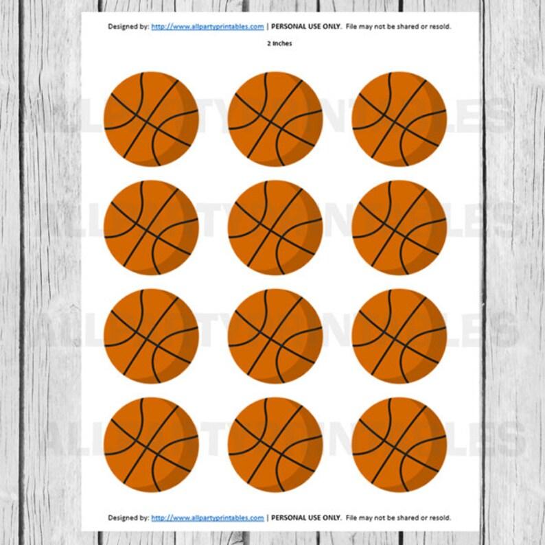 graphic regarding Basketball Printable known as Basketball Cupcake Toppers, Basketball Printables, Basketball PRINTABLE Electronic History