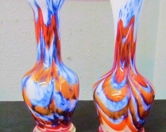 Set of Art Glass Vases