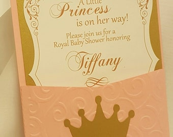 A Little Princess Baby shower Invitations#3