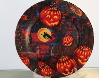 Decorative Halloween Plate