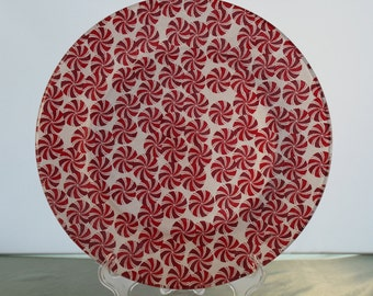 Decorative Christmas Peppermint Plate