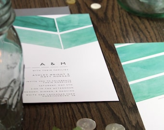 Mint | Wedding Invitation