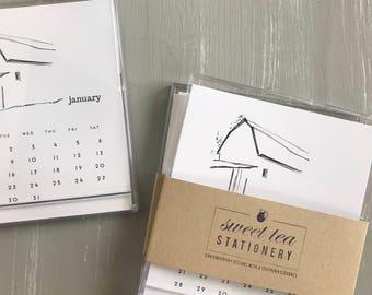 2018 Desktop Calendar | Barn Sketches