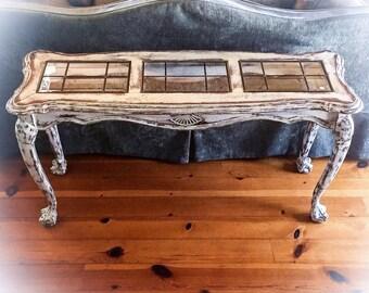 Farmhouse Table Solid Pine Vintage Table Shabby Chic Sofa Etsy