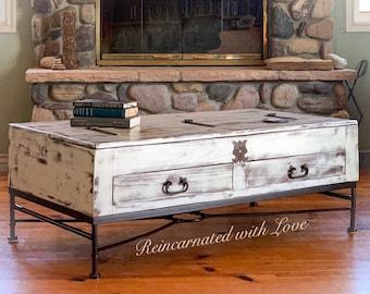 Wood Coffee Table Etsy
