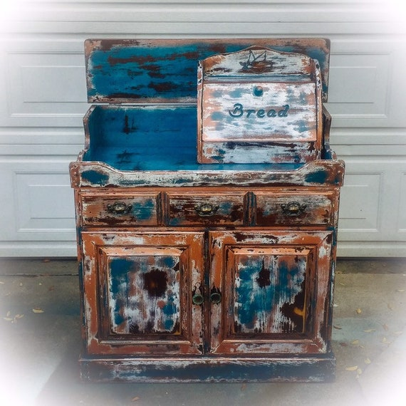 rustic sideboard kitchen storage cabinet farmhouse Kitchen Cabinet dry sink boho furniture farmhouse furniture coffee bar Country