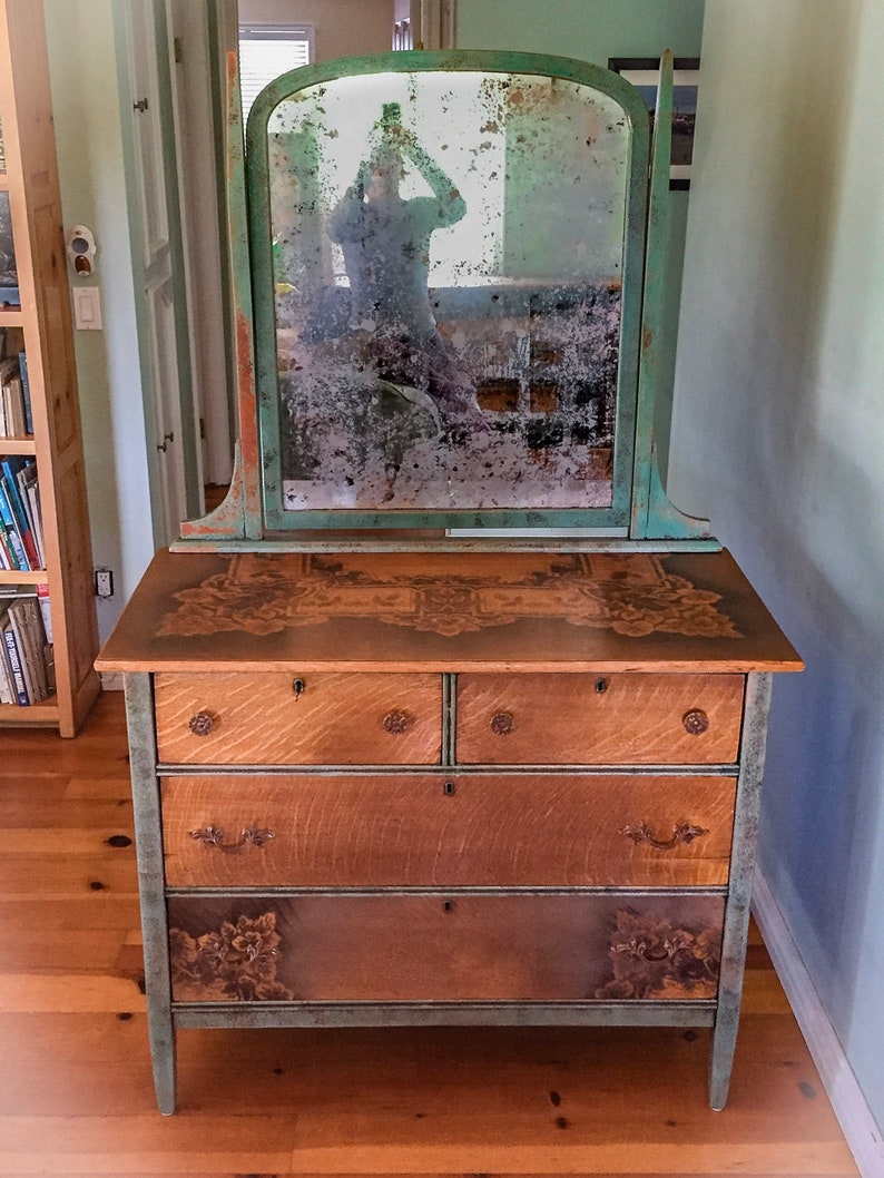 Locking Antique Farmhouse Dresser Chest Of Drawers French Etsy