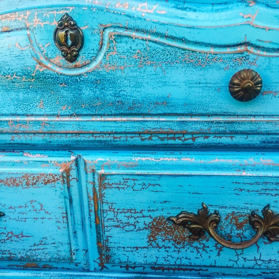 SOLD - Matching, French Country, Bedroom Set, blue, wood, large, farmhouse,  dresser, shabby chic, nightstand, dresser set, french provincial