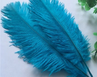 Ostrich feathers 15 / 20cm Blue 20pcs