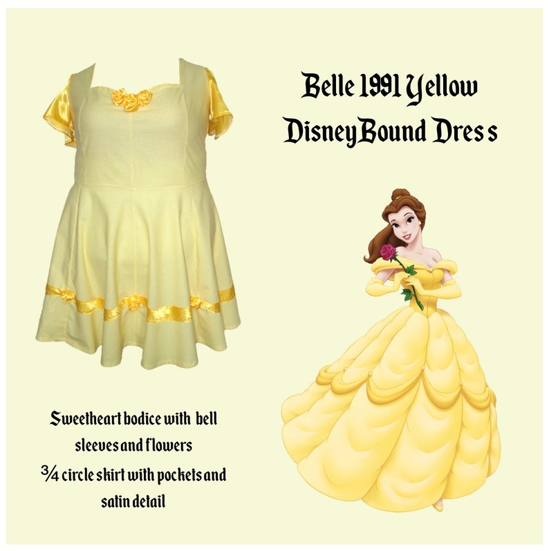 d960399e4be Belle 1991 Yellow Dress. Disney Bound. Beauty and the Beast.