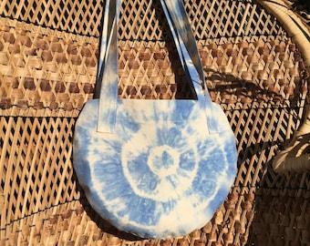 Tie Dye Circle Boho Tote Bags