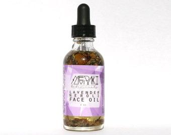 lavender neroli cleansing oil for dry or sensitive skin ~ 2 oz \ organic face serum \ face oil cleanser \ dry skin treatment \ dry skin oil