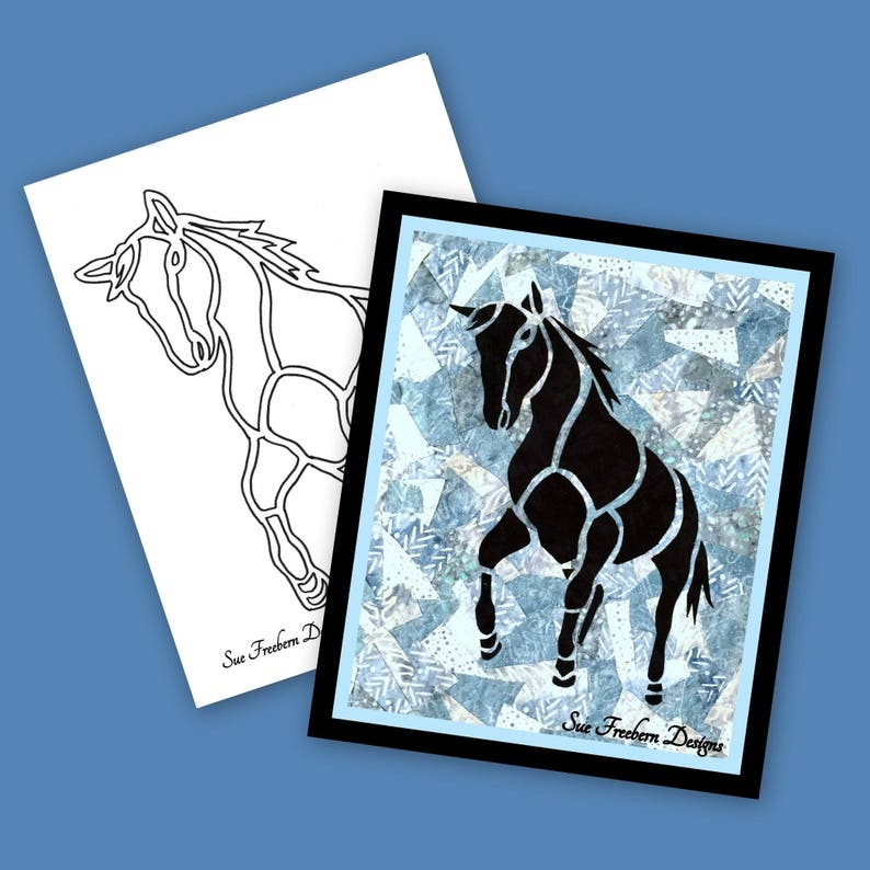 TEMPLATE: HORSE Silhouette TEMPLATE Only Instant Download image 0