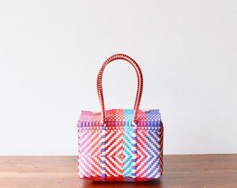 Colorful Mexican handbag, Mexican Purse Bag, Woven Mexican Bag, Bag for kids, Purse for kids, Mexican Basket, Woven Basket, Gifts for kids