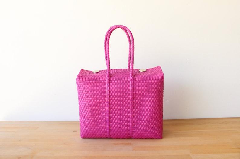 Hot Pink Mexico Bag Handwoven Mexican Tote Oaxaca Tote  a2da08795b246