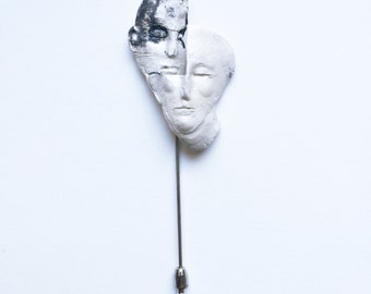 Sterling Silver Two Face Pin 2