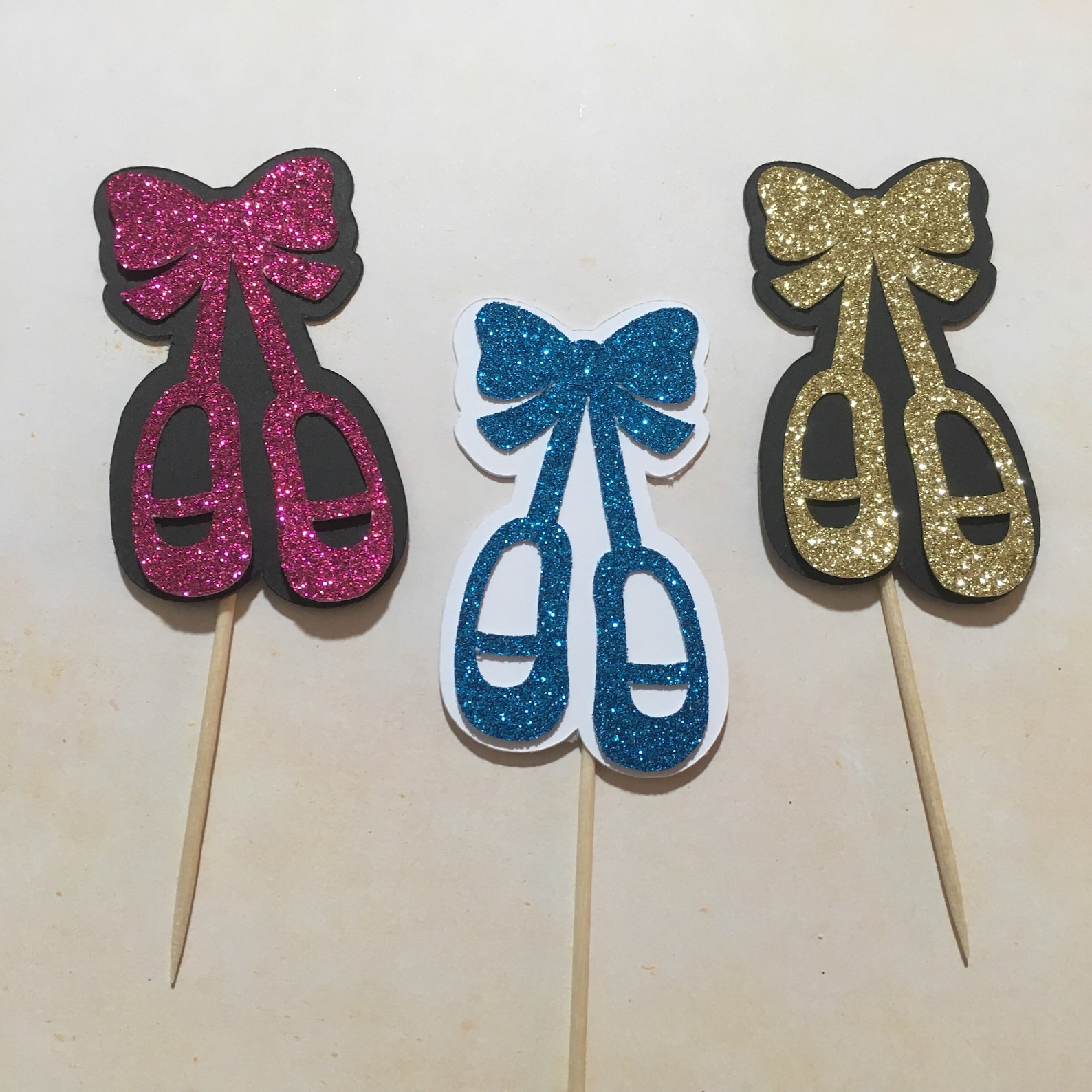 ballet slippers cupcake topper, ballerina shoes,