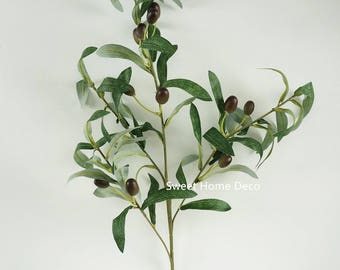 JennysFlowerShop 29'' Faux Olive Leaves Single Spray Set of 2 Craft Greenery Arrangement Design