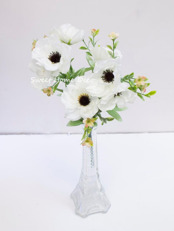 Jennysflowershop 12 silk anemone artificial flower etsy image 0 mightylinksfo
