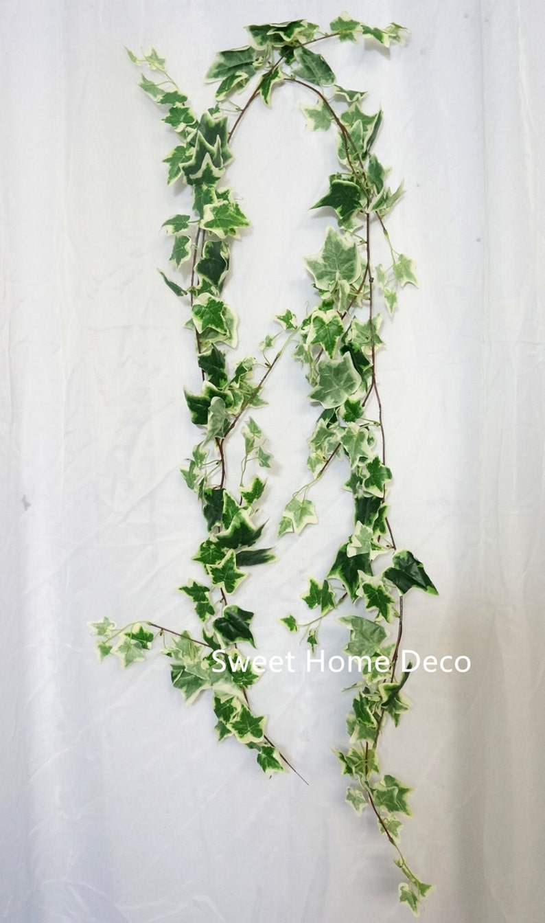 JennysFloweShop 6'L Silk Ivy Artificial Garland Greener image 0