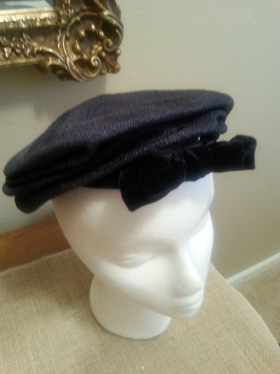 Vintage Flat Style Hat by Miss Alice