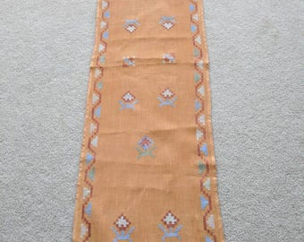 Vintage Table Runner with Stitching