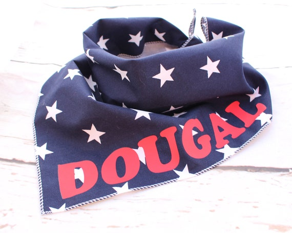 38c9d212610 Personalised Navy Blue Star Puppy Dog Tie On Bandana