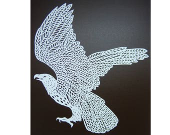 paper cutting art eagle