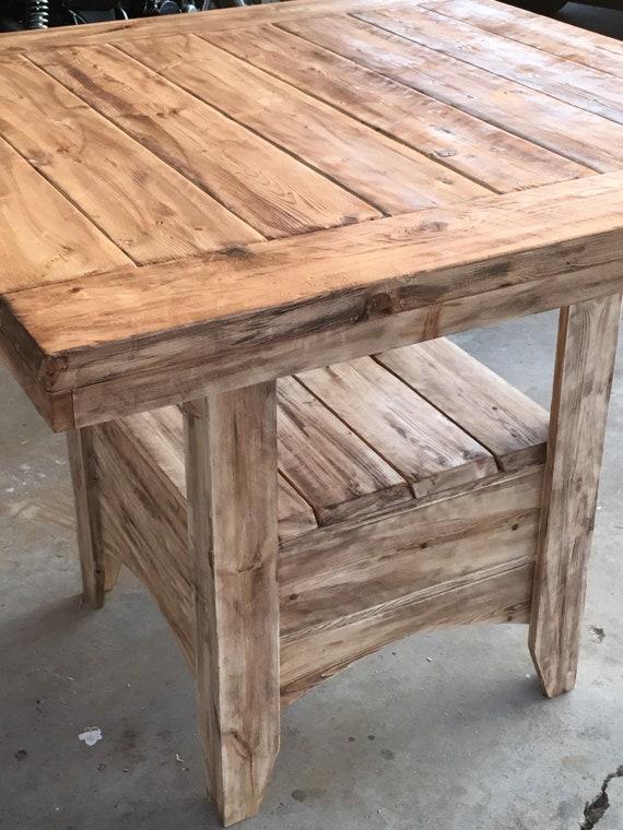 Custom built solid wood farmhouse pub style kitchen table 44x44x36\