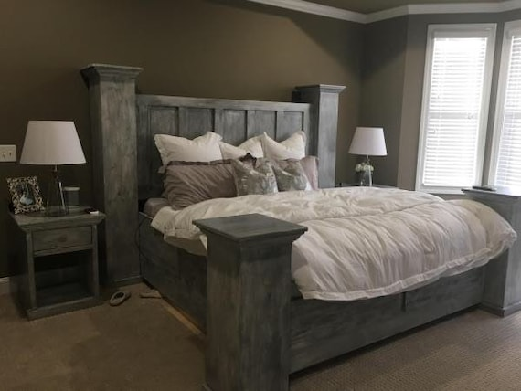 Solid Wood Queen Size Bed Frame Built, Solid Wood Queen Bed