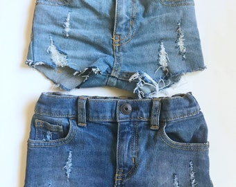 Little Distressed Shorts