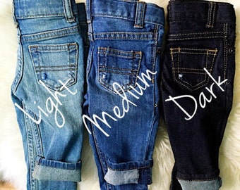 Fabric Patch Jean (Add size in Notes)