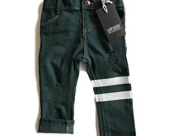 RTS 9m Pine Green Stripes Jean