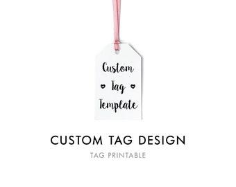 Custom Gift Tag Digital Template, Custom Favor Tag, Editable Gift Tag, Personalized Custom Gift Tags