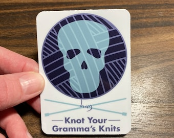 Knot Your Gramma's Knits Logo Sticker