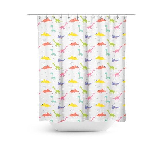 Dinosaur Shower Curtain Bathroom Bath Decoration Decor 70