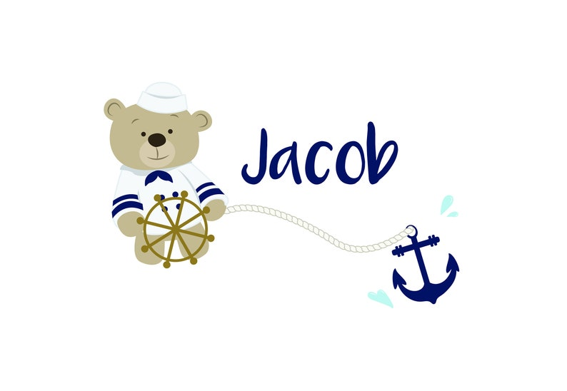 Personalized Kids/' Pillowcase with Name Sailor Boys Girls Pillow Case Bedroom