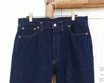 Vintage Levi's 501 Single Stitch 40×34 Dark One Wash
