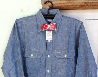 Vintage 50's BIG MAC Chambray Shirt Sz.M 15 Deadstock