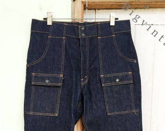 Vintage Levis Big E Bush Jeans 6 Pocket 35 x 31 Deadstock